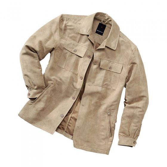 Veste-chemise en microvelours