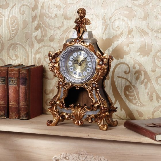 "Horloge de cheminée radio-pilotée  ""chérubin"""