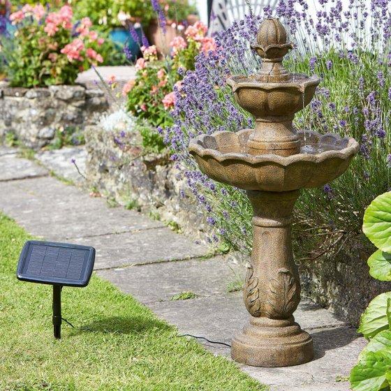 Fontaine solaire avec minuteur