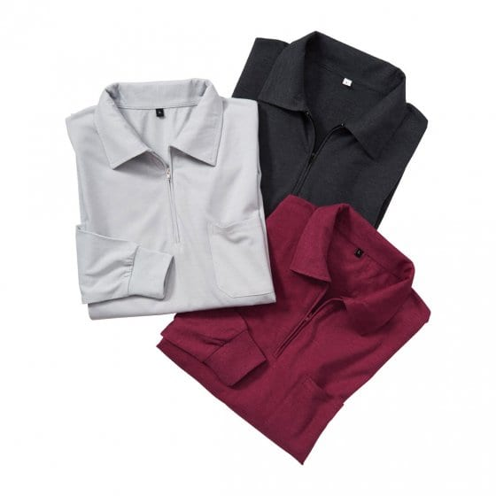 Polos jersey en lot de 3 XL | Anthracite#Bordeaux#Argent