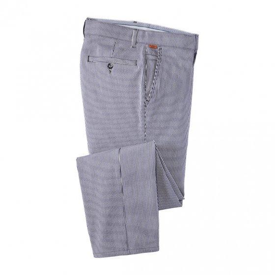Pantalon en seersuc.,bleues,21 21 | Rayuresbleues