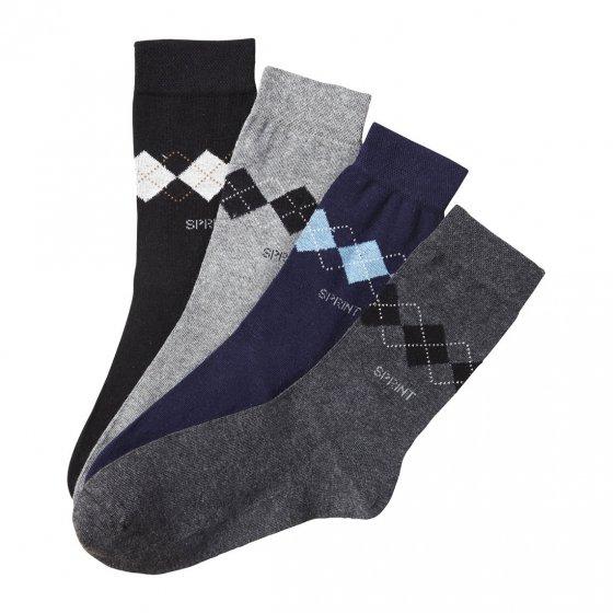 Chaussettes confort par lot de 4 paires