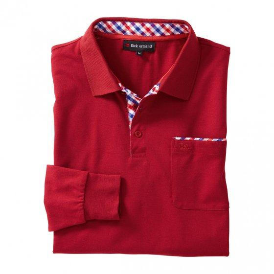 T-shirt à manches longues en piqué de coton