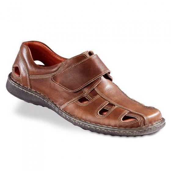Chaussures d'été à patte auto-agrippante 44 | Tabac