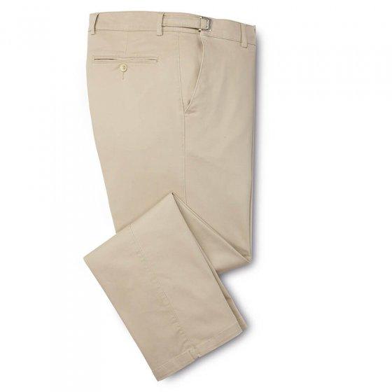Pantalon confort en coton 48 | Beige