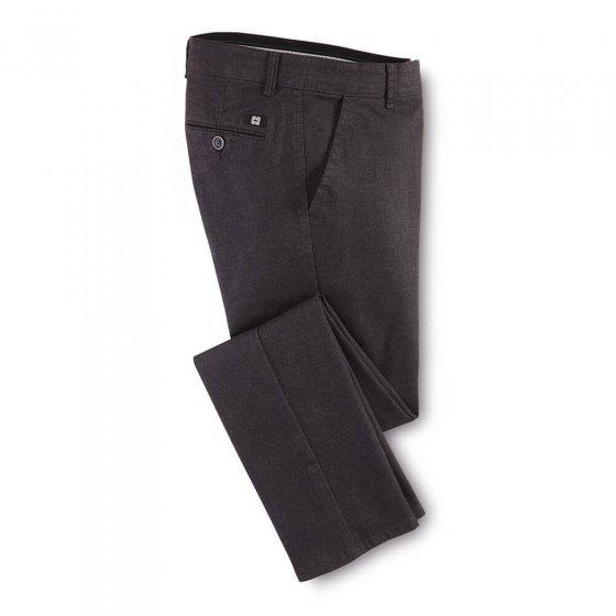 Pantalon en coton aspect laine 30 | Anthracite