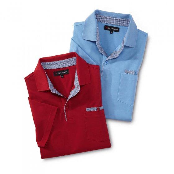 Polo de style sportif Lot de 2  3XL | Bleuclair#Rouge