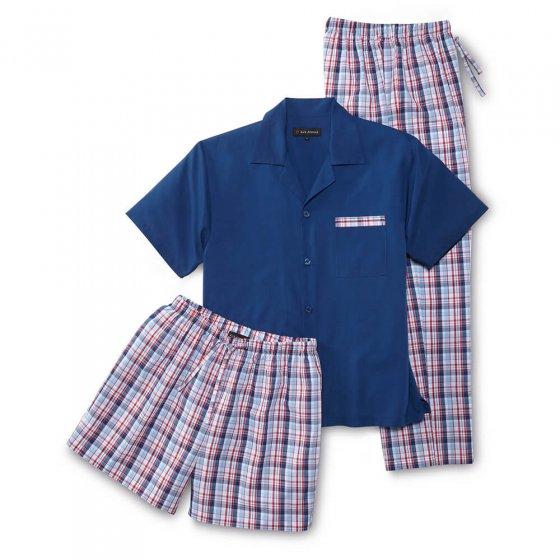 Pyjama d'été 3 pièces 3XL | Carreauxbleus
