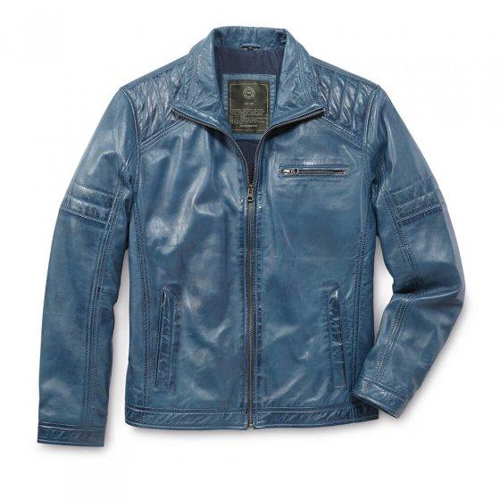Veste cuir style moderne,Bleu 50 | Bleu