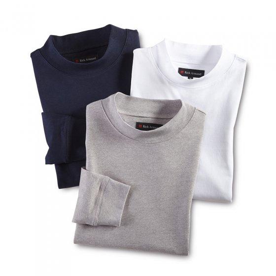 T-shirt col droit Par lot de 3 paires  L | Marine#Grisargenté#Blanc