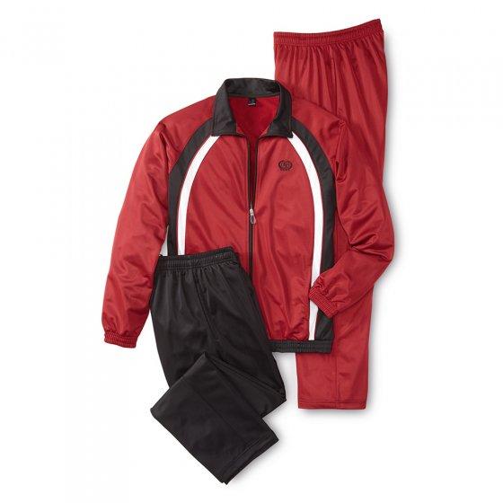 Ensemble de sport avec 2 pantalons L | Bordeaux-noir