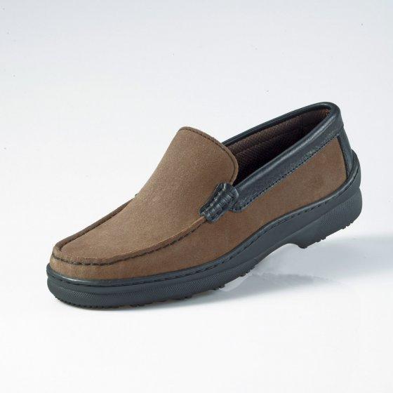 Chaussures en cuir velours