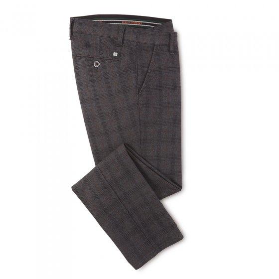 Pantalon coton à carreaux 44 | Carreauxanthracite