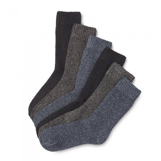 Chaussettes en coton mouliné Lot de 6