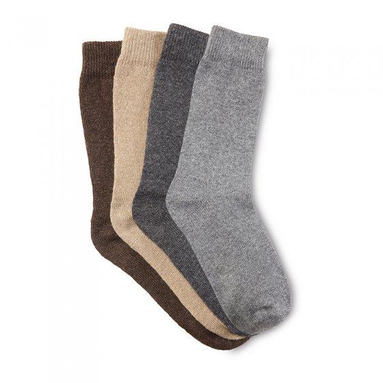 Chaussettes en laine avec alpaga Lot de 4