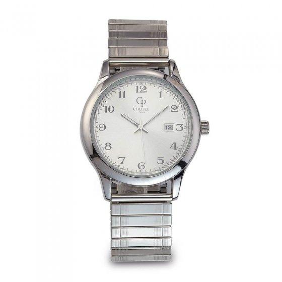 Montre classique à bracelet métallique extensible