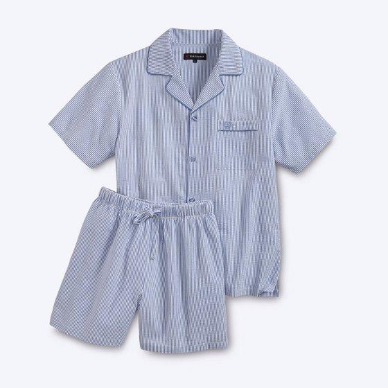 Pyjama d'été en seersucker
