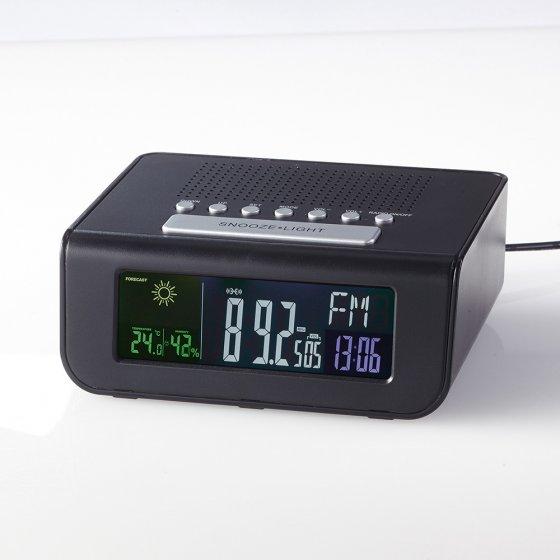 Radio-réveil avec station météo