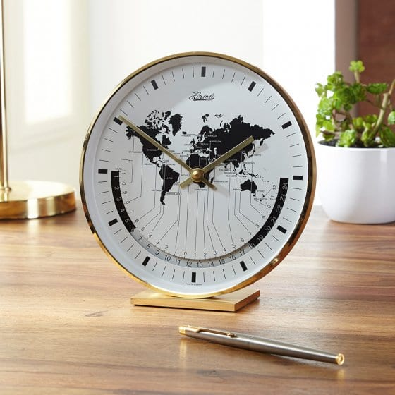 Horloge de table heure universelle