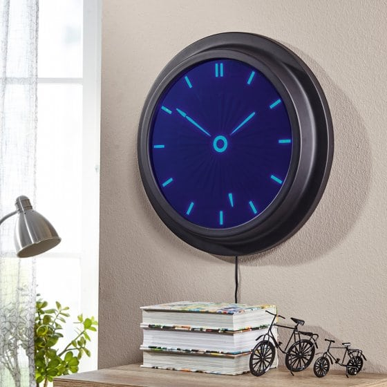 Horloge murale LED numérique-analogique