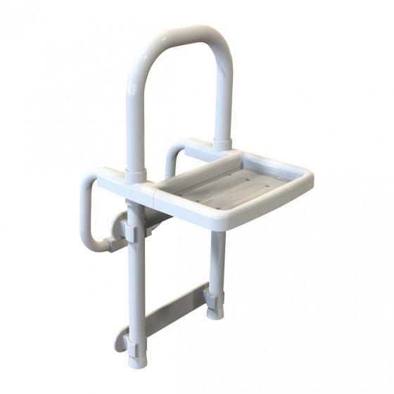 Barre d'accès à la baignoire avec plateau