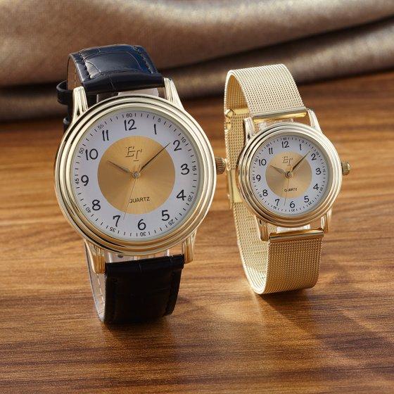 Votre cadeau : montres assorties pour elle et lui