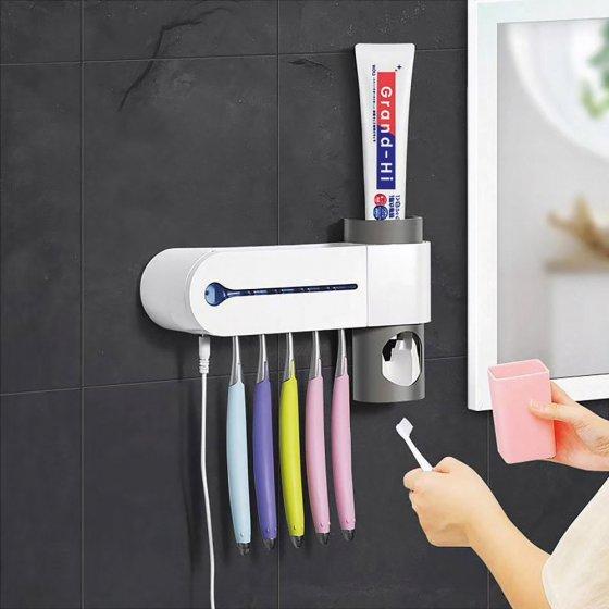 Support antibactérien pour brosse à dents