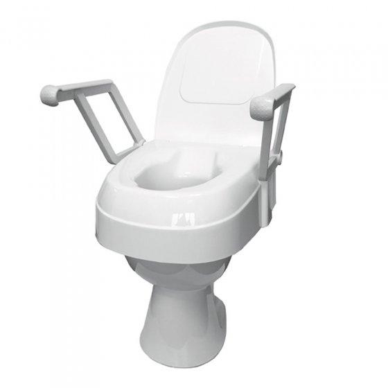 Rehausseur de toilettes avec accoudoirs