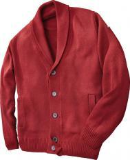 Veste en laine à col châle-2