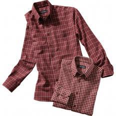 Chemises à carreaux en flanelle par 2-2