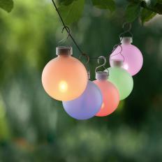 Boules de soirée lumineuses d'extérieur à LED Lot de 5 -2