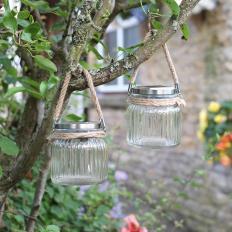 Lanternes solaires en verre Lot de 2-2