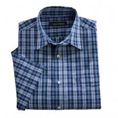Chemise gaufrée à carreaux-2