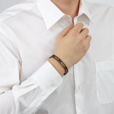 Bracelet en titane avec du bois de rose-2