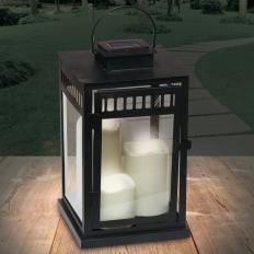 Lanterne solaire avec 3 bougies LED-2