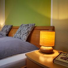 Lampe tactile aspect bois-2