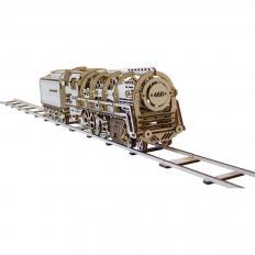 Maquette locomotive à vapeur en bois-2