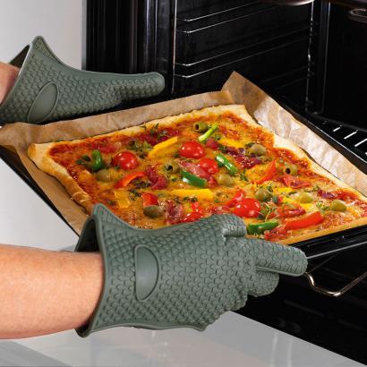 Gants de cuisine anti chaleur en silicone 1 paire - Gant de cuisine anti chaleur ...