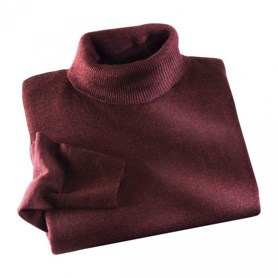 Pull col roulé luxueux soie et laine mérinos