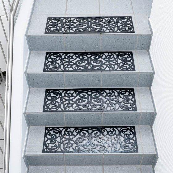 """Tapis d'escalier  """"antique"""" Lot de 4"""