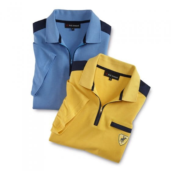 T-shirt interlock avec col zippé