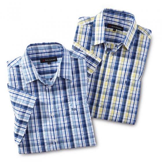 Chemise sans repassage en coton gaufré