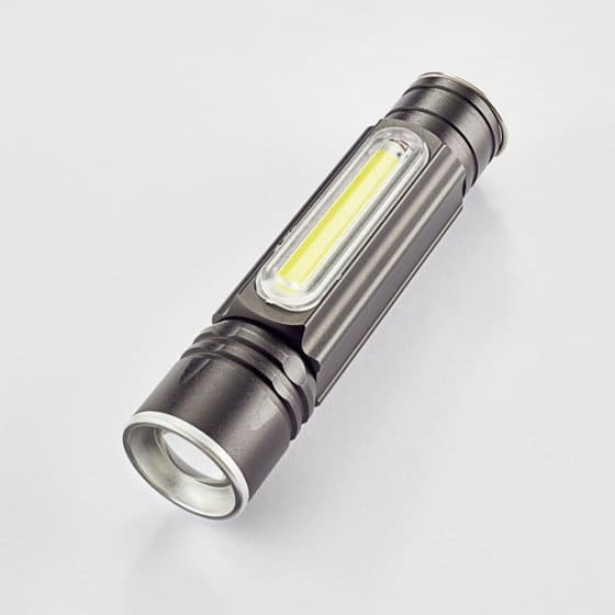 Lampe de poche COB avec USB