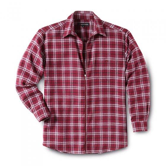 Chemise de flanelle zippée