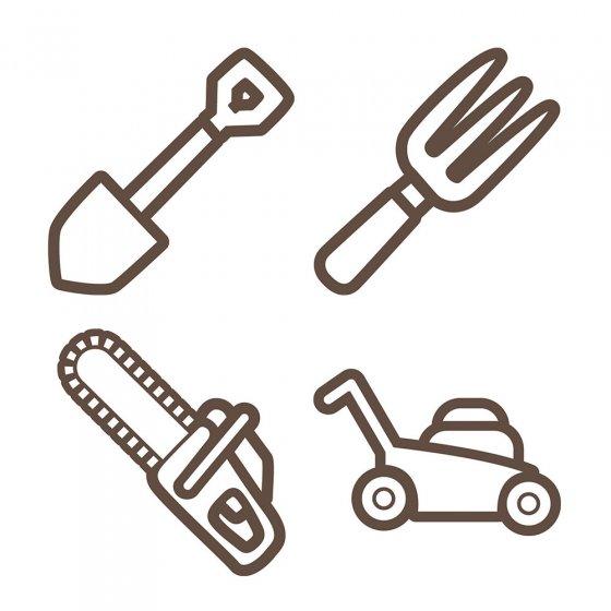 Affûteur pour outils de jardin - Set de 2