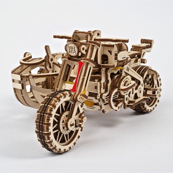 """Modèle réduit en bois  """"Motocross"""""""