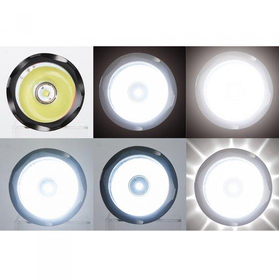 Lampe puissante multifonctions rechargeable