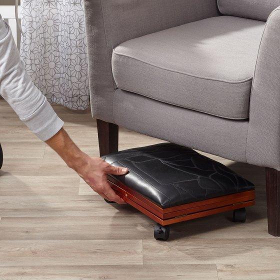 Repose-pieds confortable en cuir