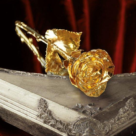 Rose dorée à l'or fin