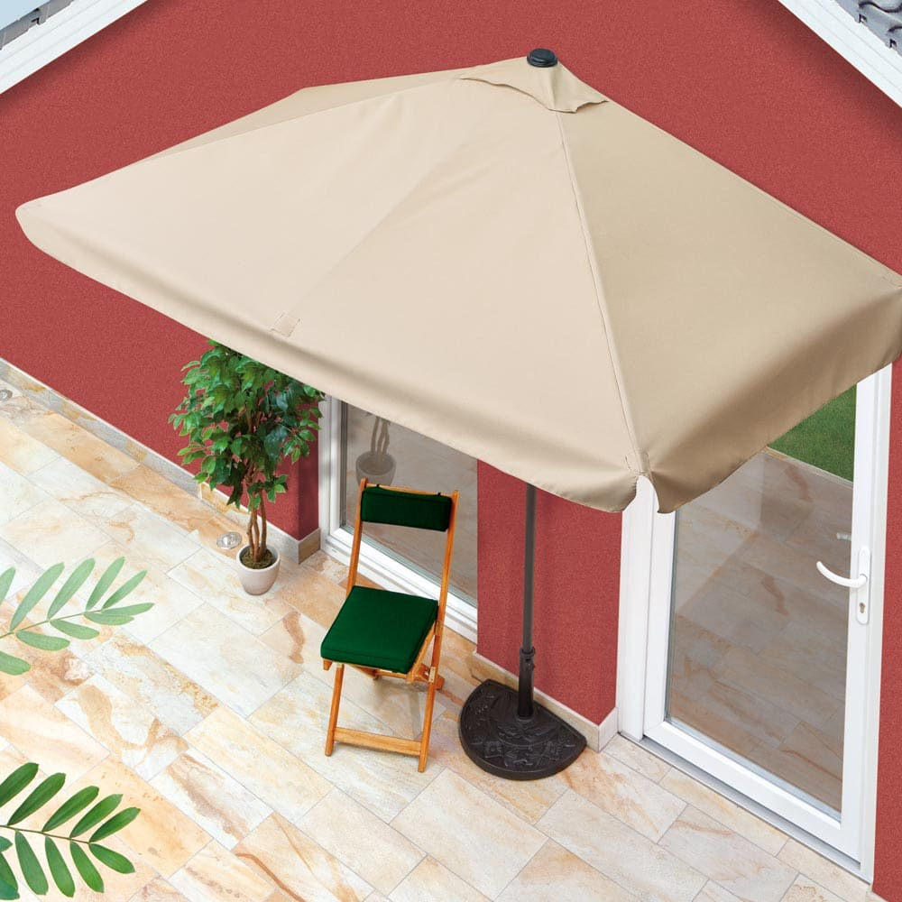 commander en toute simplicit parasol de balcon rectangulaire chez eurotops. Black Bedroom Furniture Sets. Home Design Ideas